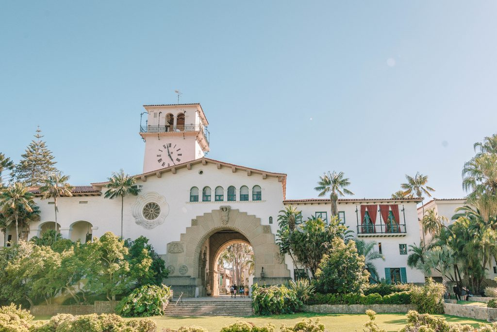 The Santa Barbara Courthouse in California