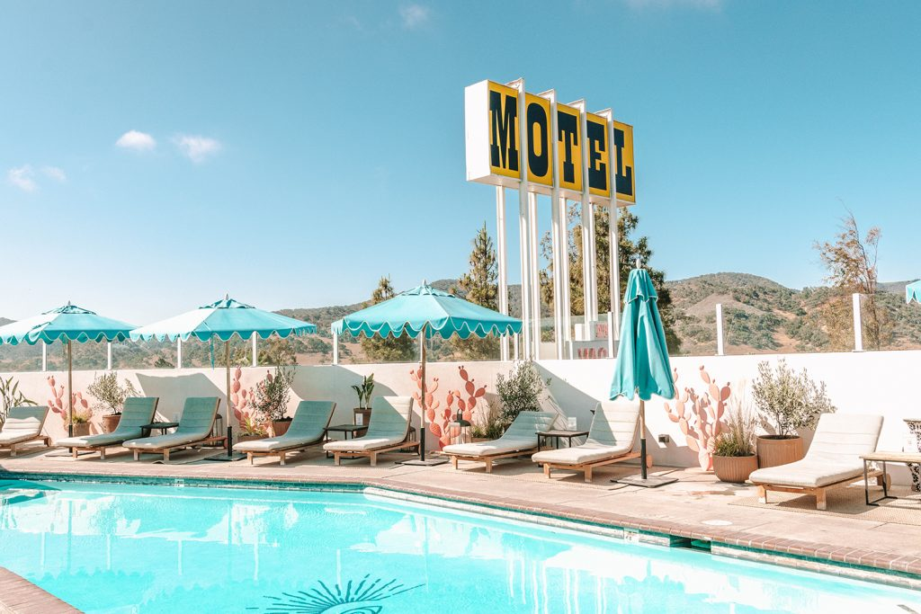 The pool at Skyview Motel in Los Alamos