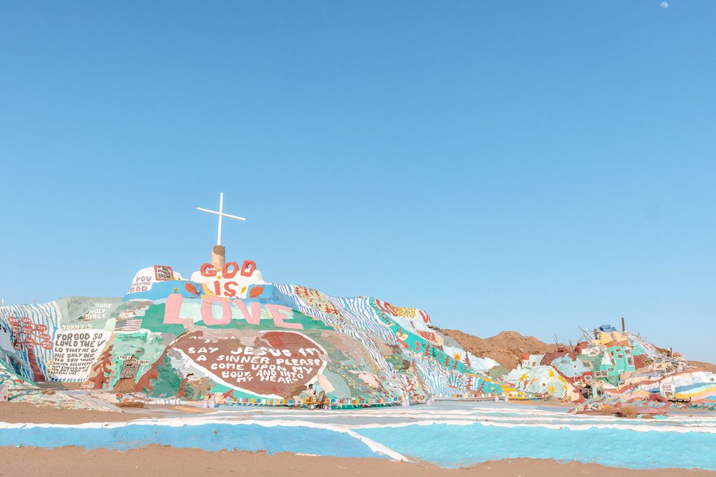 Salvation Mountain in the California Desert