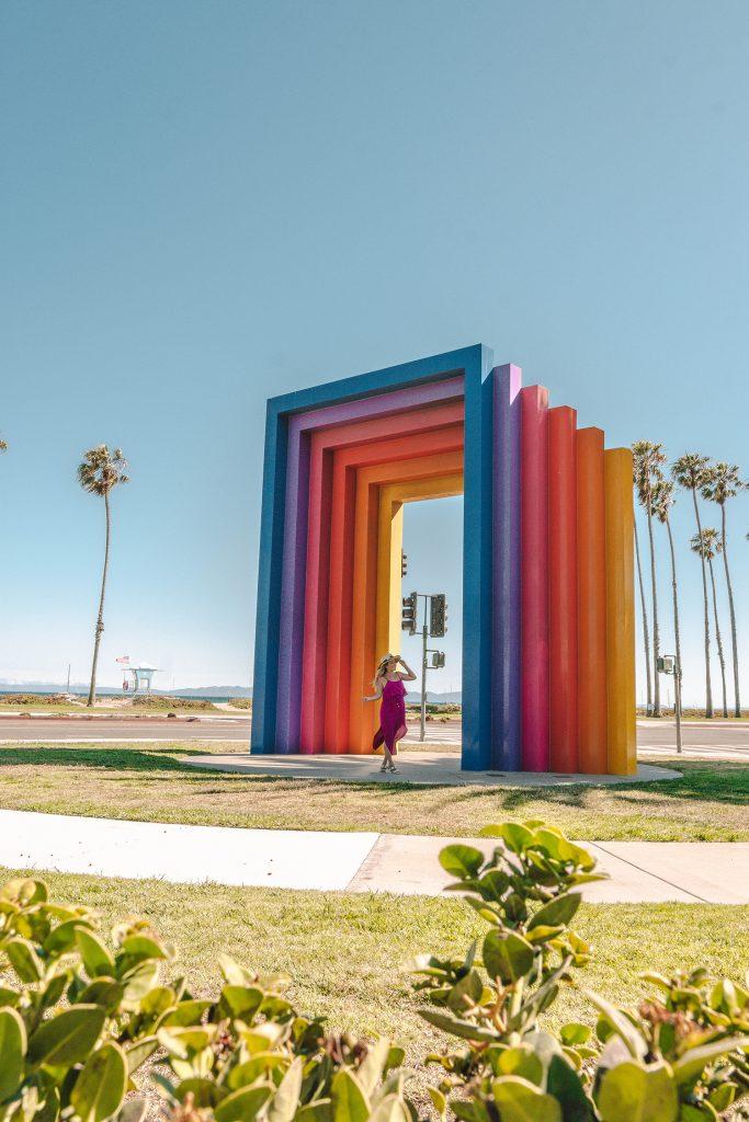 A woman at the Chromatic Gate in Santa Barbara