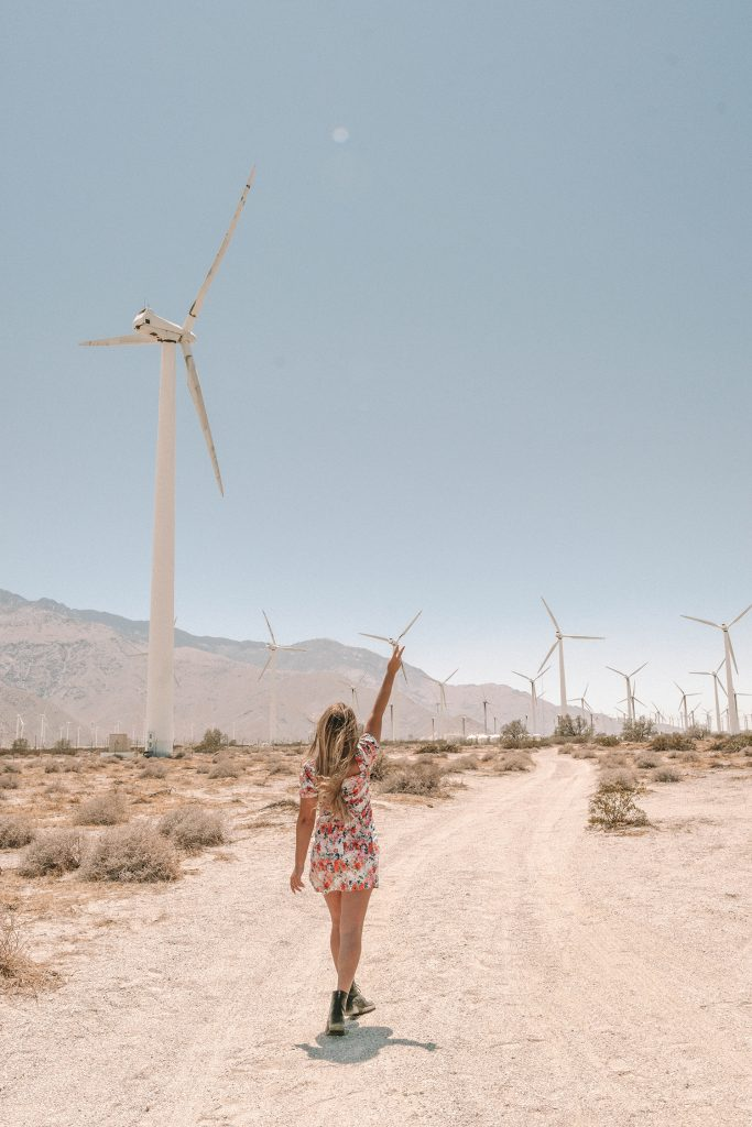 A woman enjoying a girls' trip to Palm Springs
