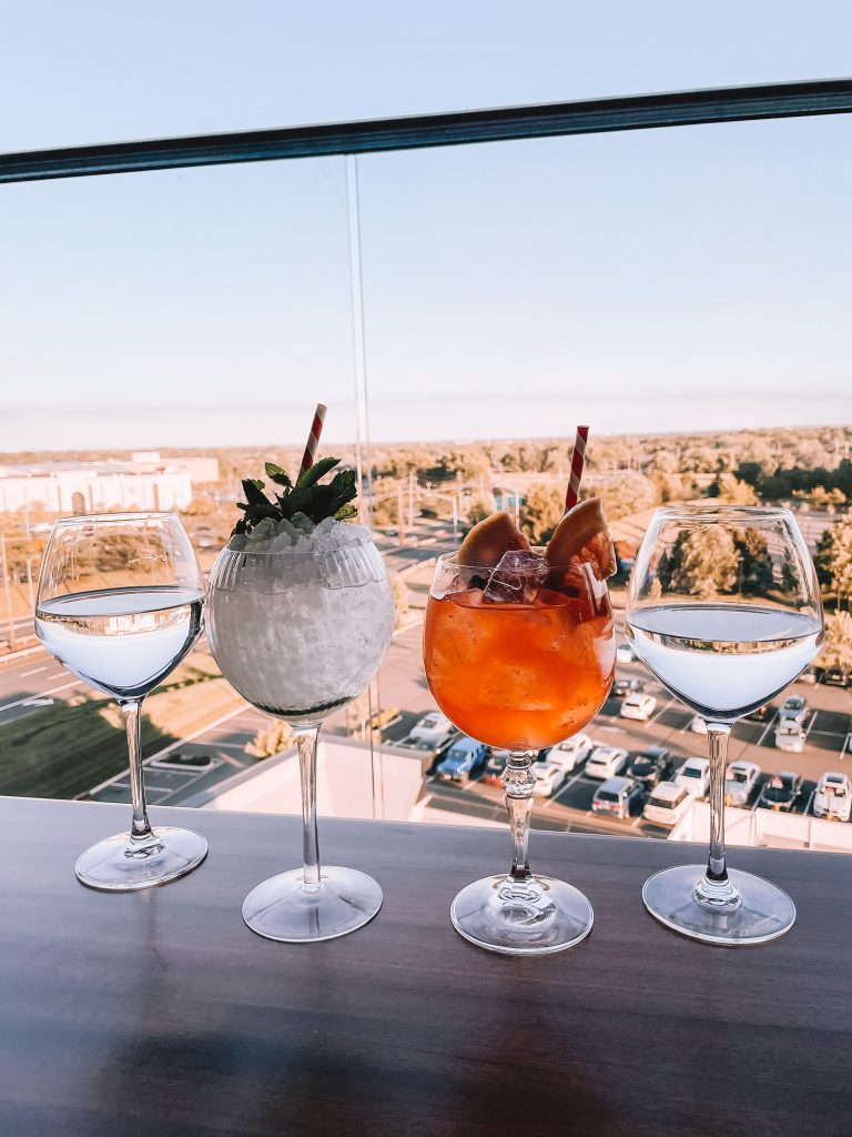 Cocktails from The Bradford Rooftop in Bridgewater, Somerset County