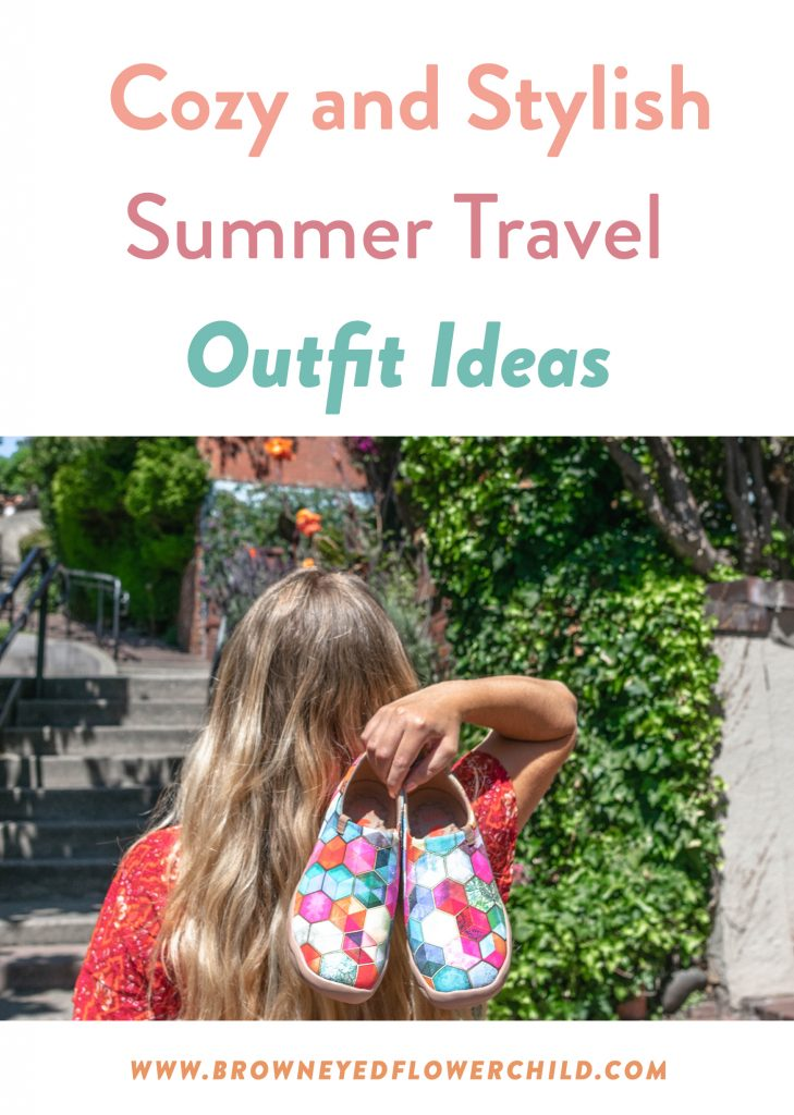 Cozy and stylish summer travel outfit ideas
