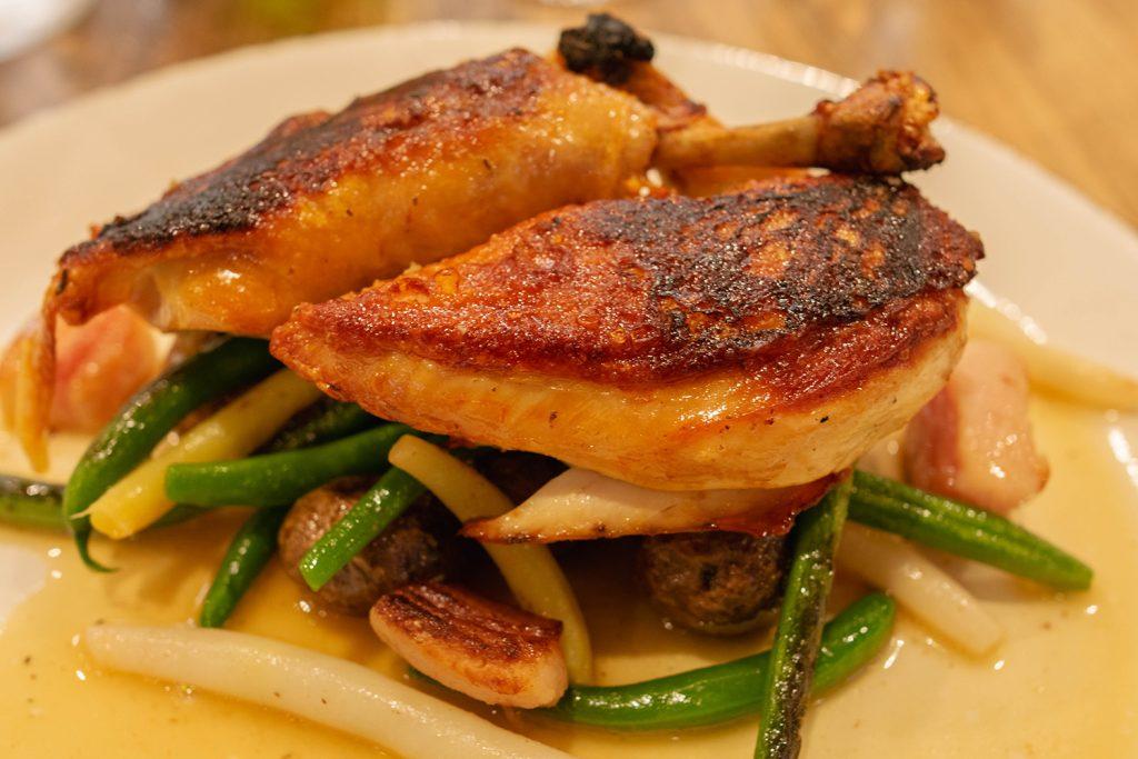 A chicken dinner from Carboni's Ristorante in Winters, California