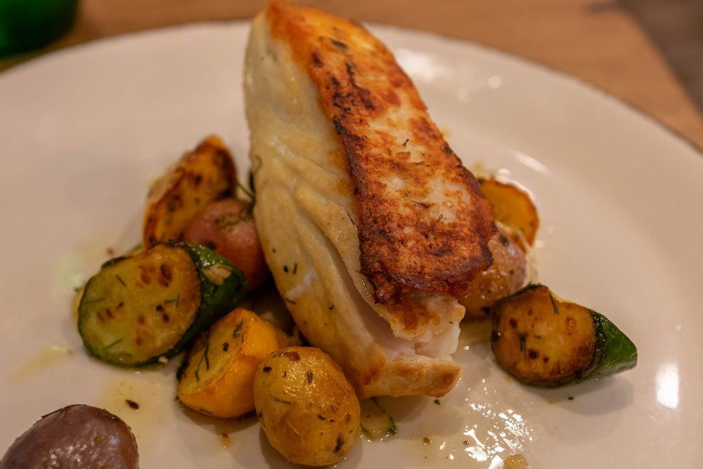 A halibut dish from Carboni's in Winters