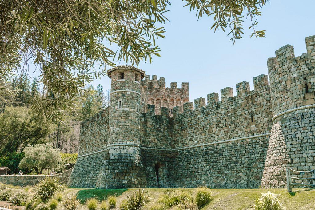 Castello di Amarosa in Calistoga, California during a Wine Country road trip