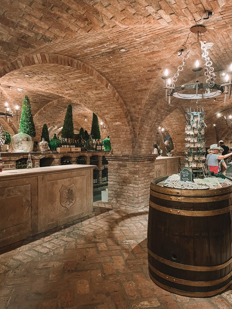 Wine tasting in Castello di Amarosa's cellars