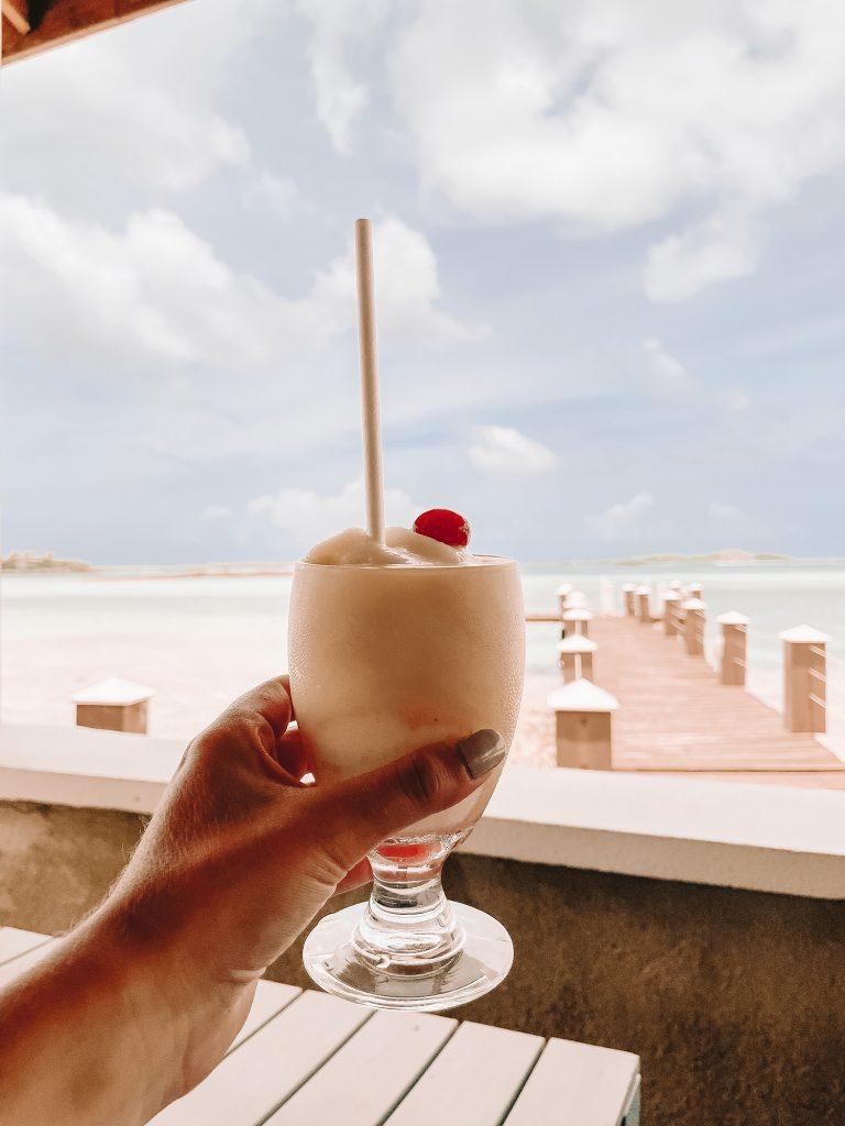 What to do on Great Exuma Island - enjoy drinks at Latitudes at Exuma Beach Resort