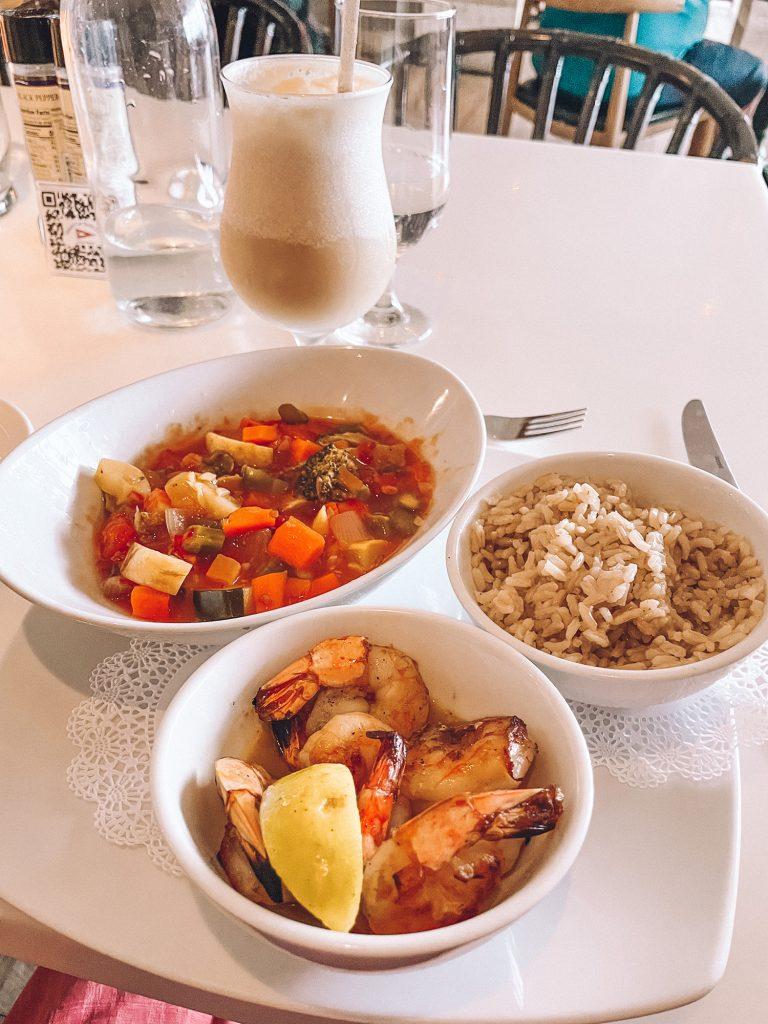 Stir fry from Staniel Cay Yacht Club