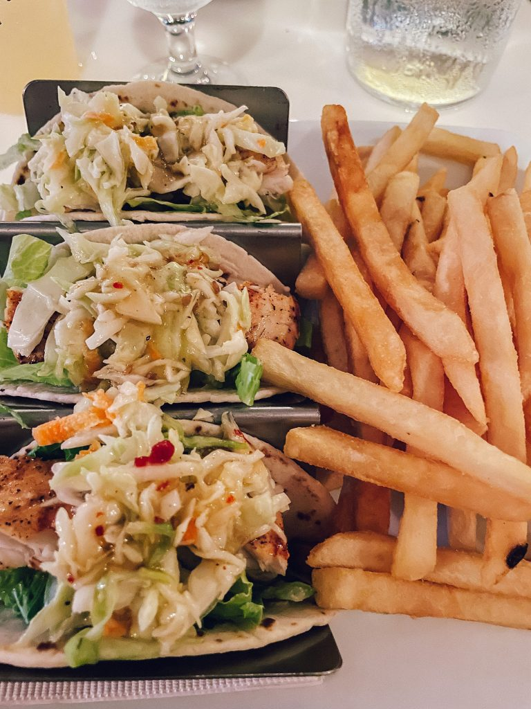 Asian fish tacos from Staniel Cay Yacht Club