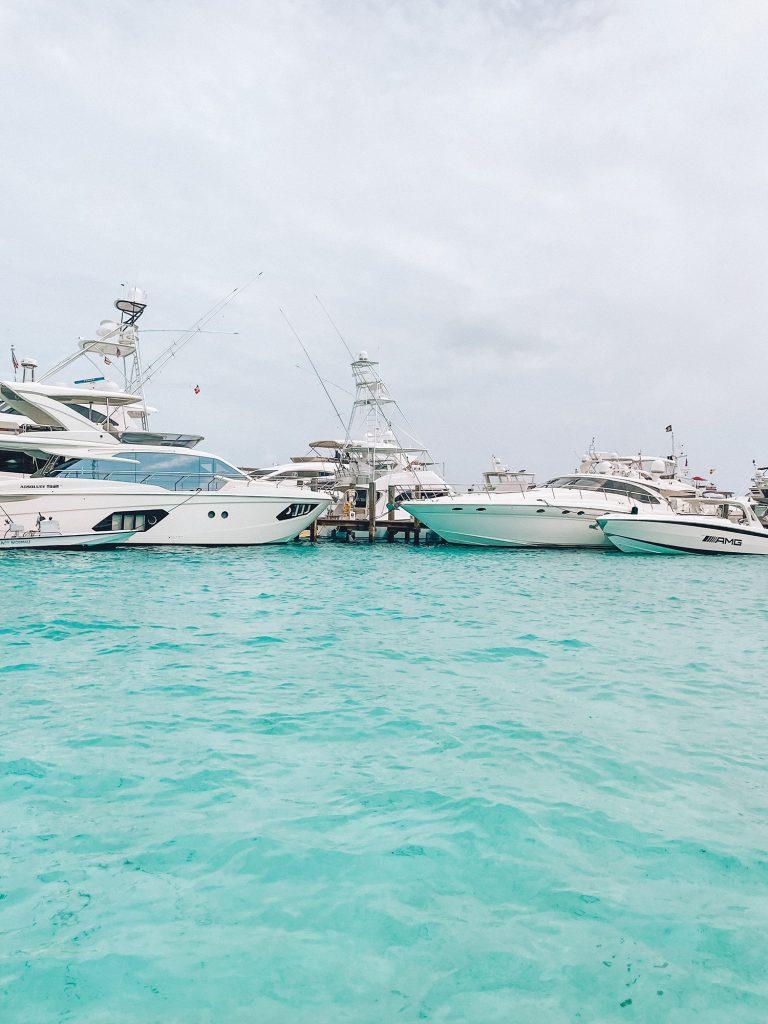 Luxury yachts at Staniel Cay Yacht Club