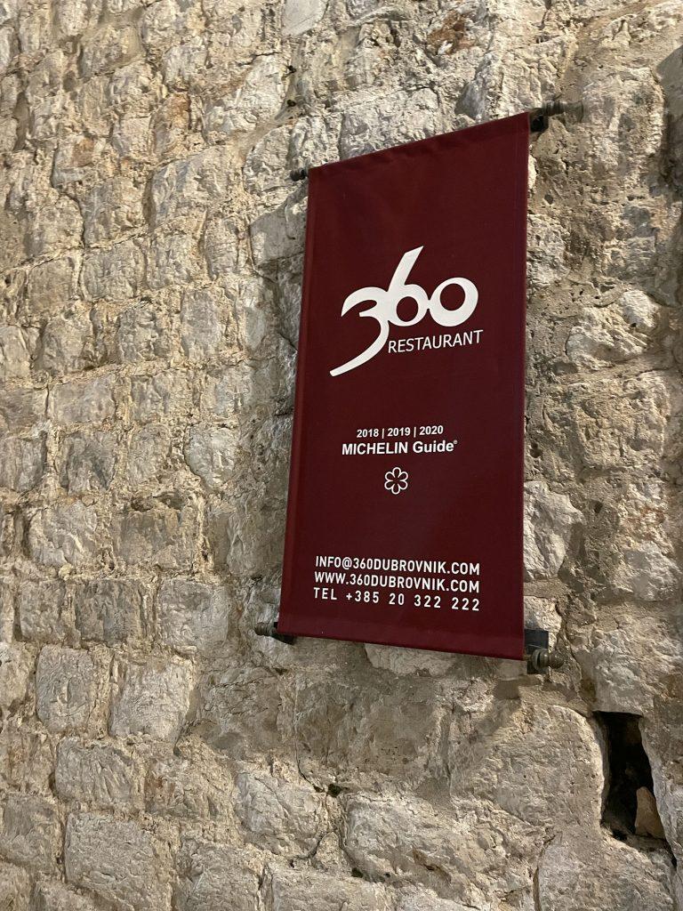 360 Michelin Star Restaurant in Dubrovnik