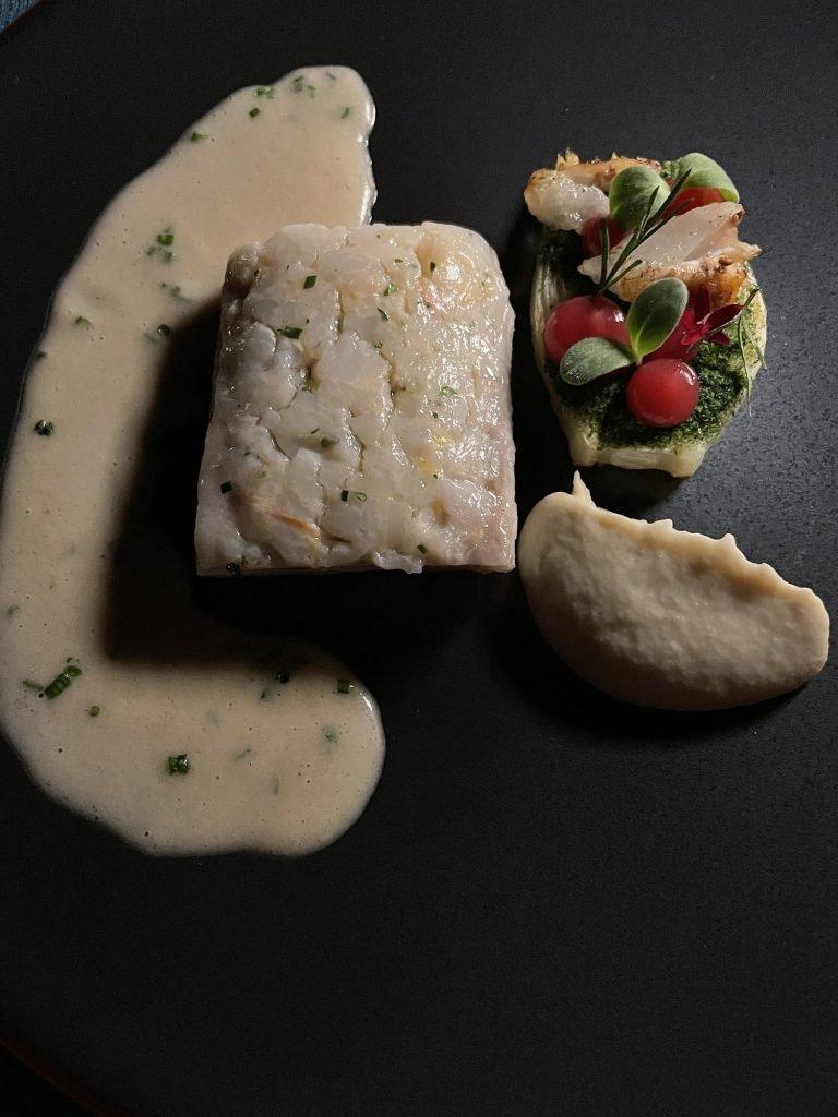 White fish from 360 Restaurant - a Michelin Star Restaurant