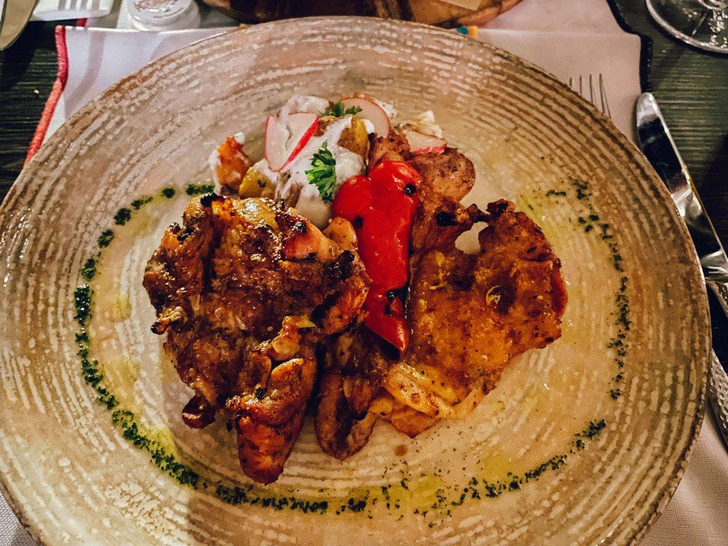 Orange and lemon chicken from Taj Mahal, a bucket list restaurant in Dubrovnik