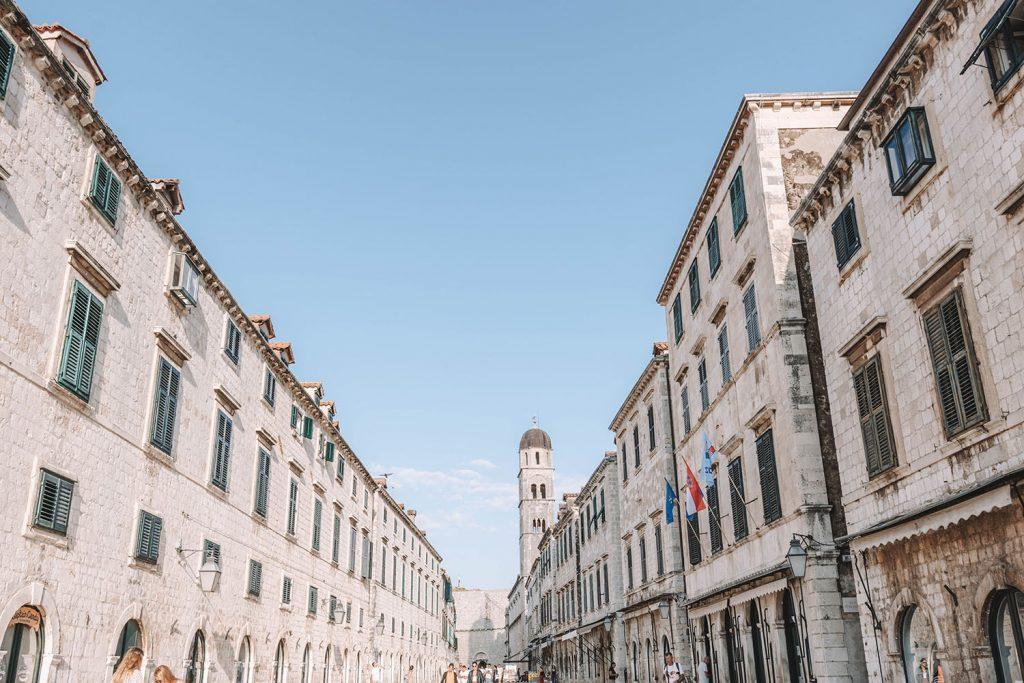 The Stradun in Dubrovnik