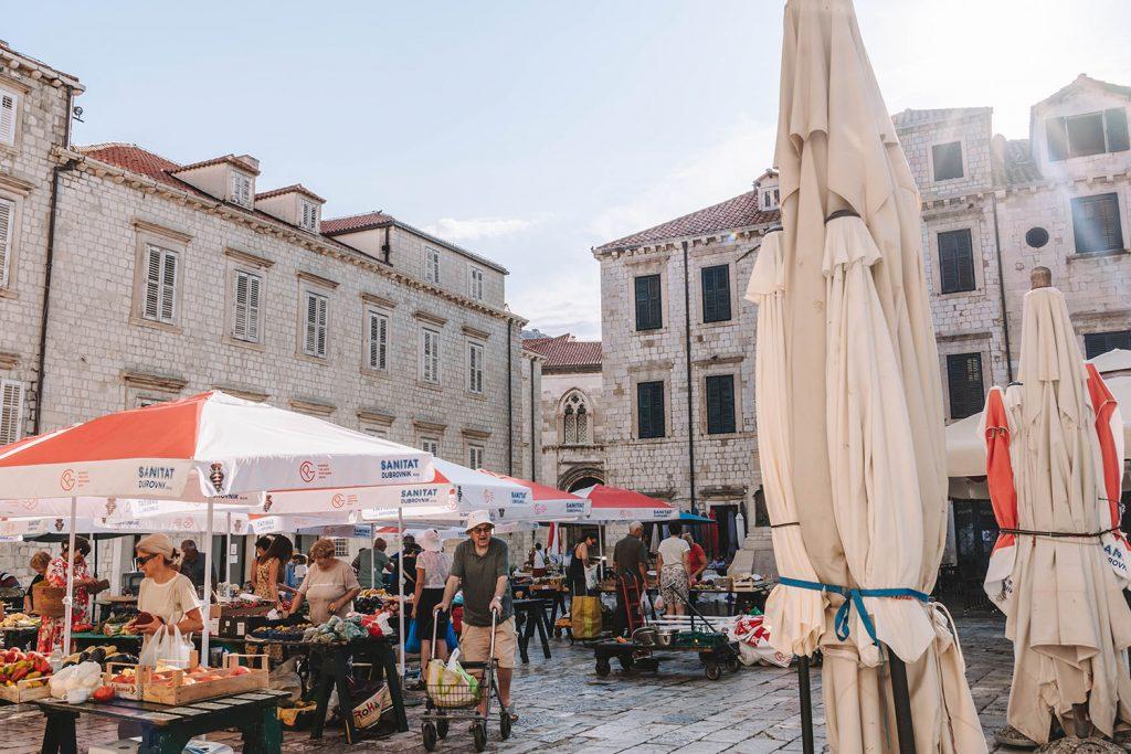 A farmer's market in Dubrovnik, Croatia
