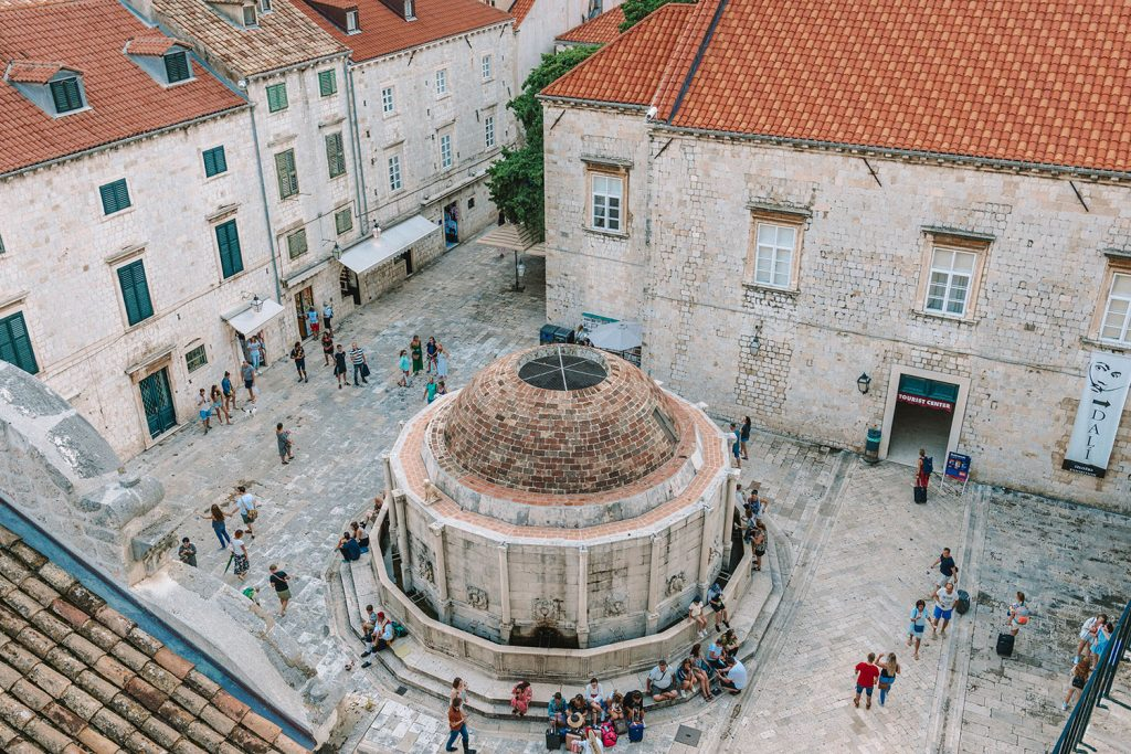 Seeing the Fountain of Onofrio in Old Town Dubrovnik - a bucket list item