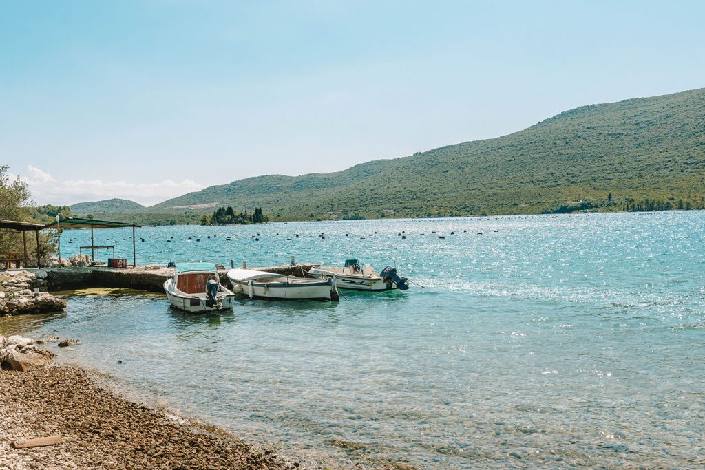 An oyster farm outside of Dubrovnik