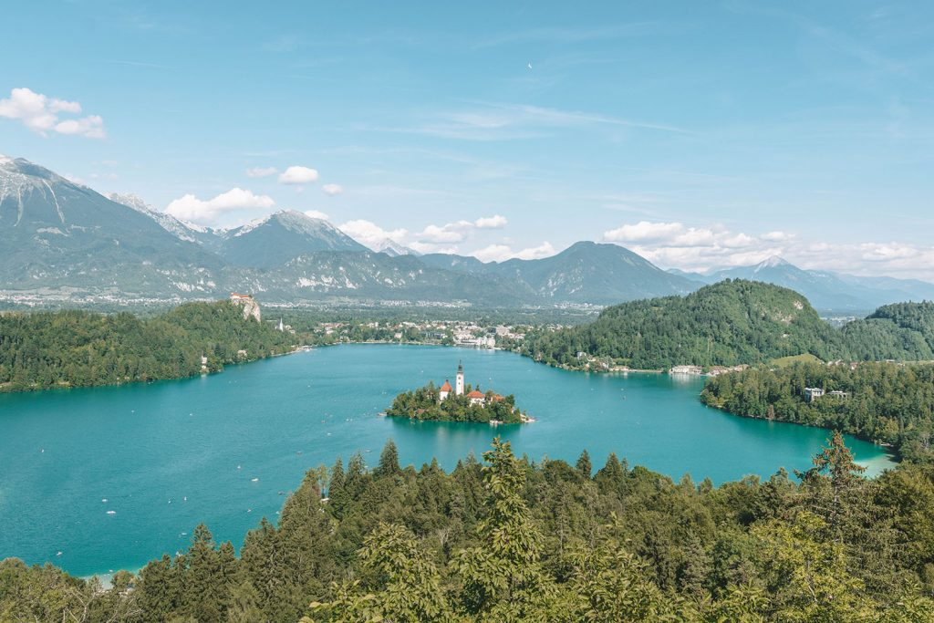 A day at Lake Bled during a weekend in Slovenia