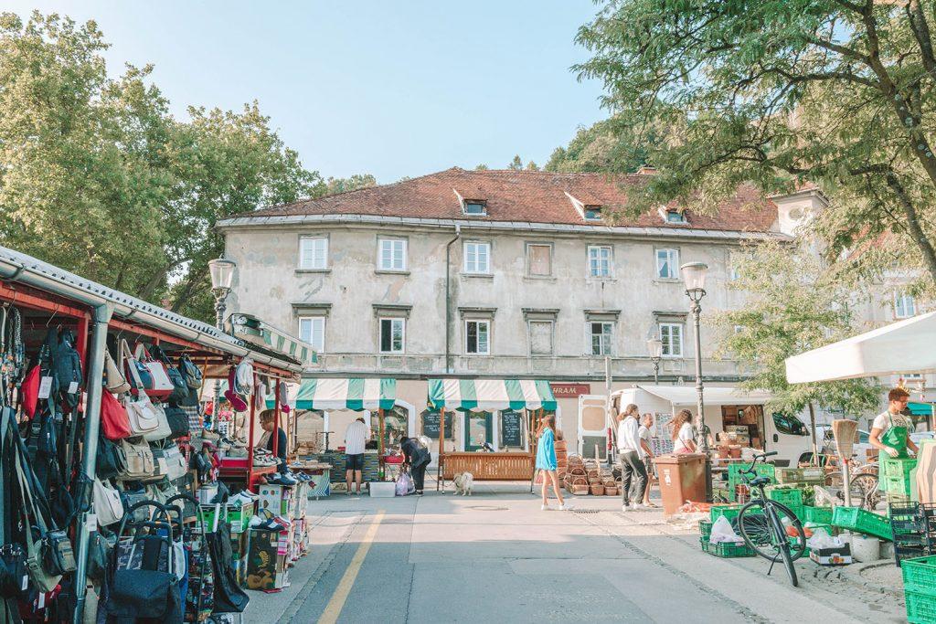 Exploring a farmer's market during a weekend in Slovenia