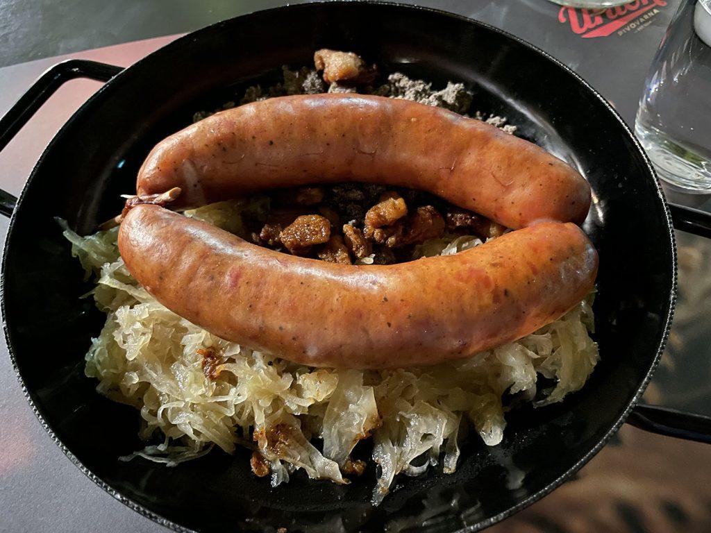 Slovenian food in Ljubljana