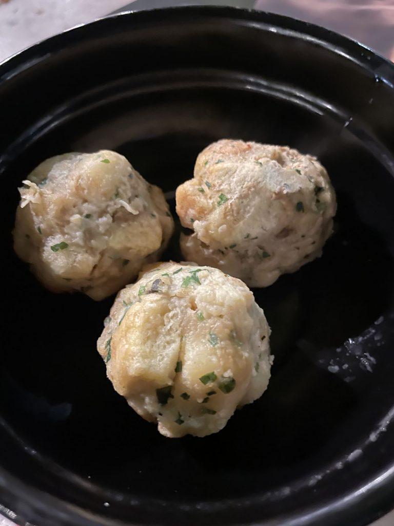 Bread dumplings from Slovenia