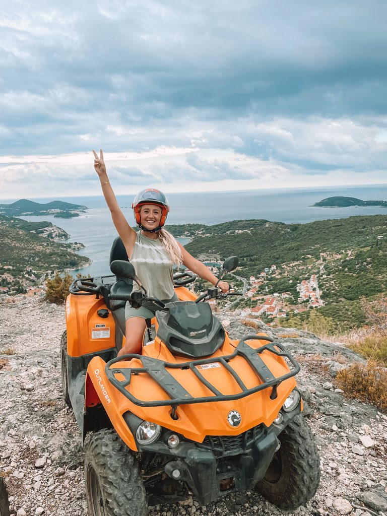 A woman on an ATV