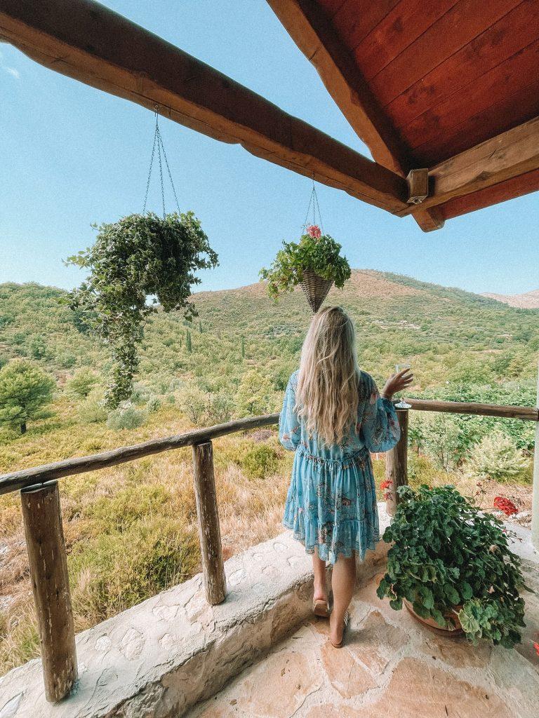 A woman enjoying the Dubrovnik countryside - a bucket list goal