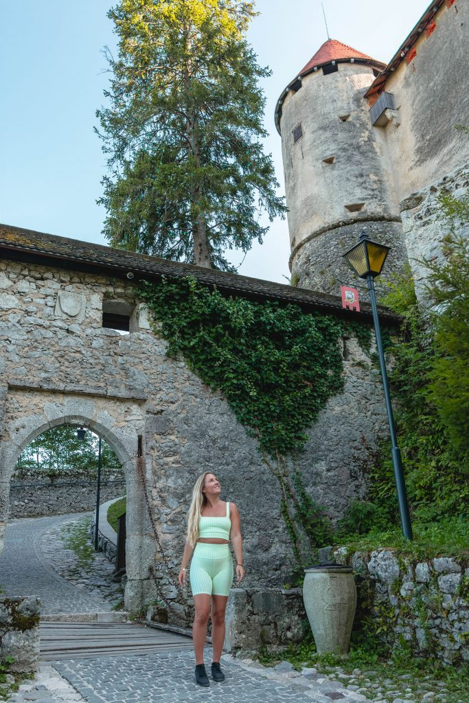 A woman at Bled Castle
