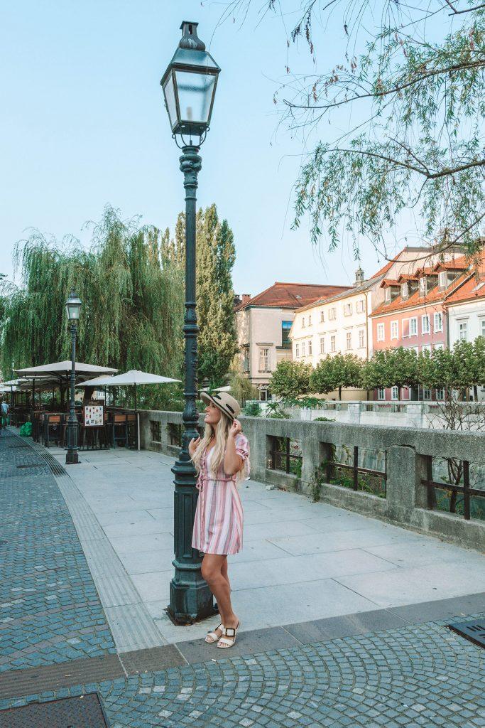 A woman enjoying a weekend in Ljubljana, Slovenia