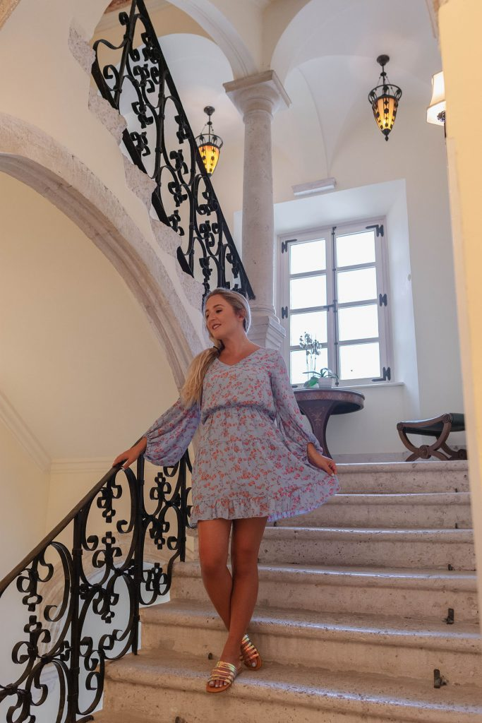 A woman staying at The Pucic Palace - a Dubrovnik bucket list goal