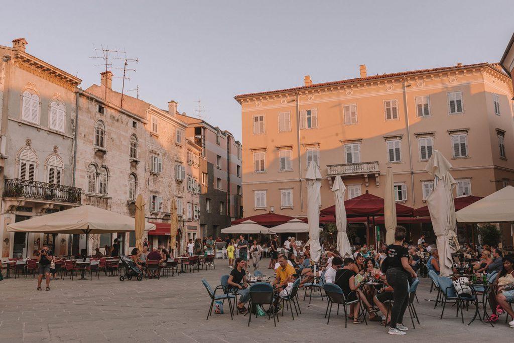 The main square in Pula, Croatia