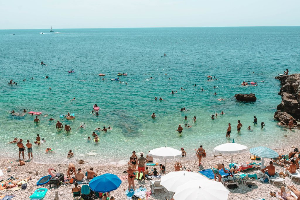 Hawaiian Cove Beach in Pula, Croatia