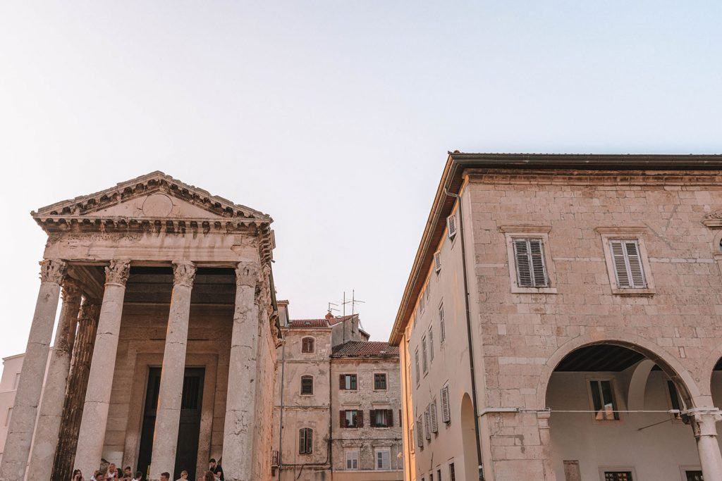 Augustus Temple and the Roman Forum