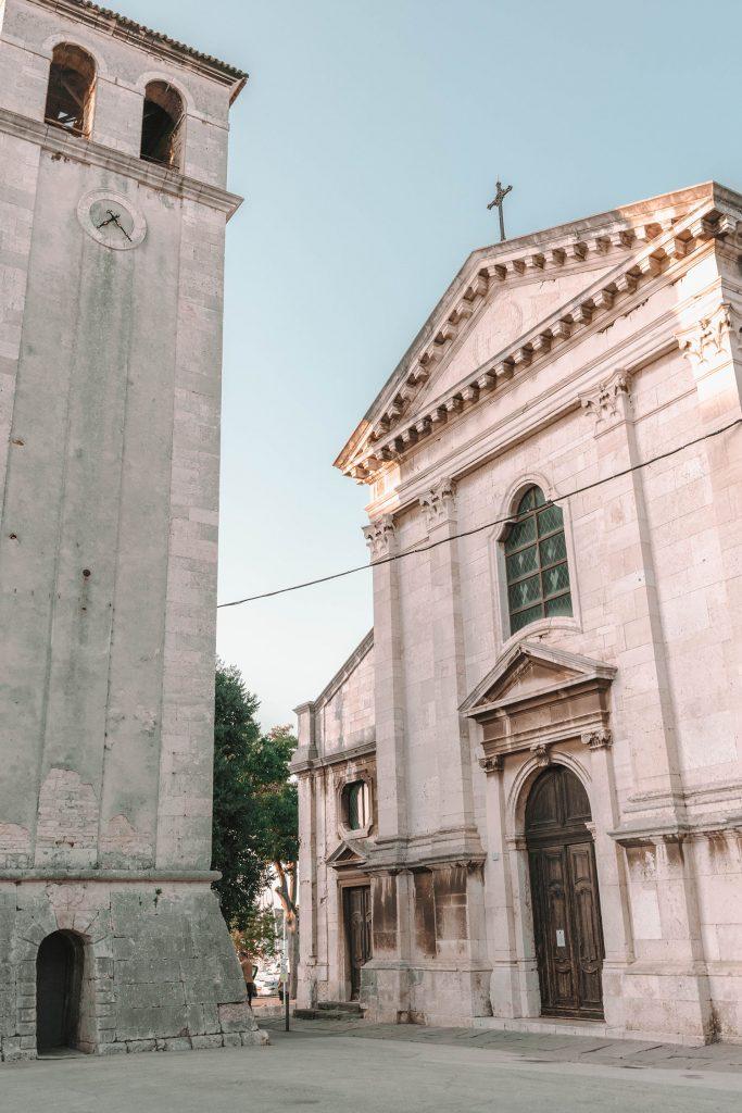 Pula Cathedral in Istria, Croatia