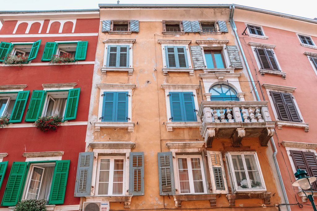 Italian architecture in Rovinj, Croatia