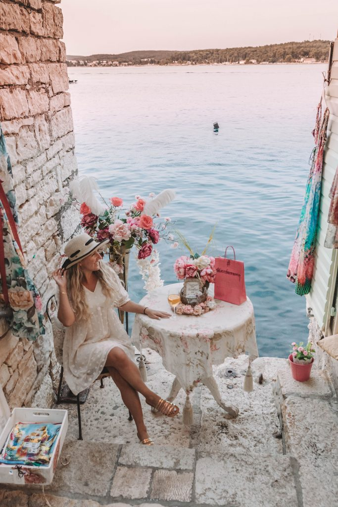 A woman enjoying her Istria vacation in Pula and Rovinj