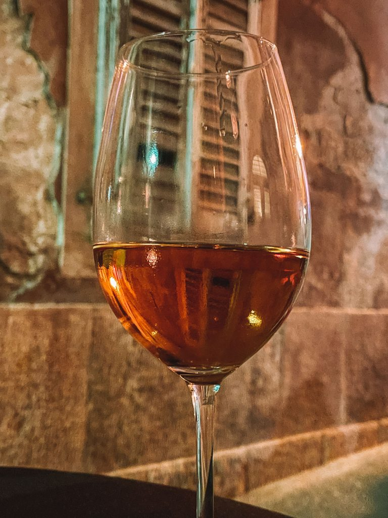 Malvasia, orange and amber Croatian wine