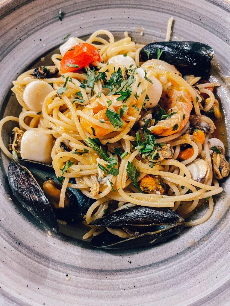 Seafood pasta from Rovinj